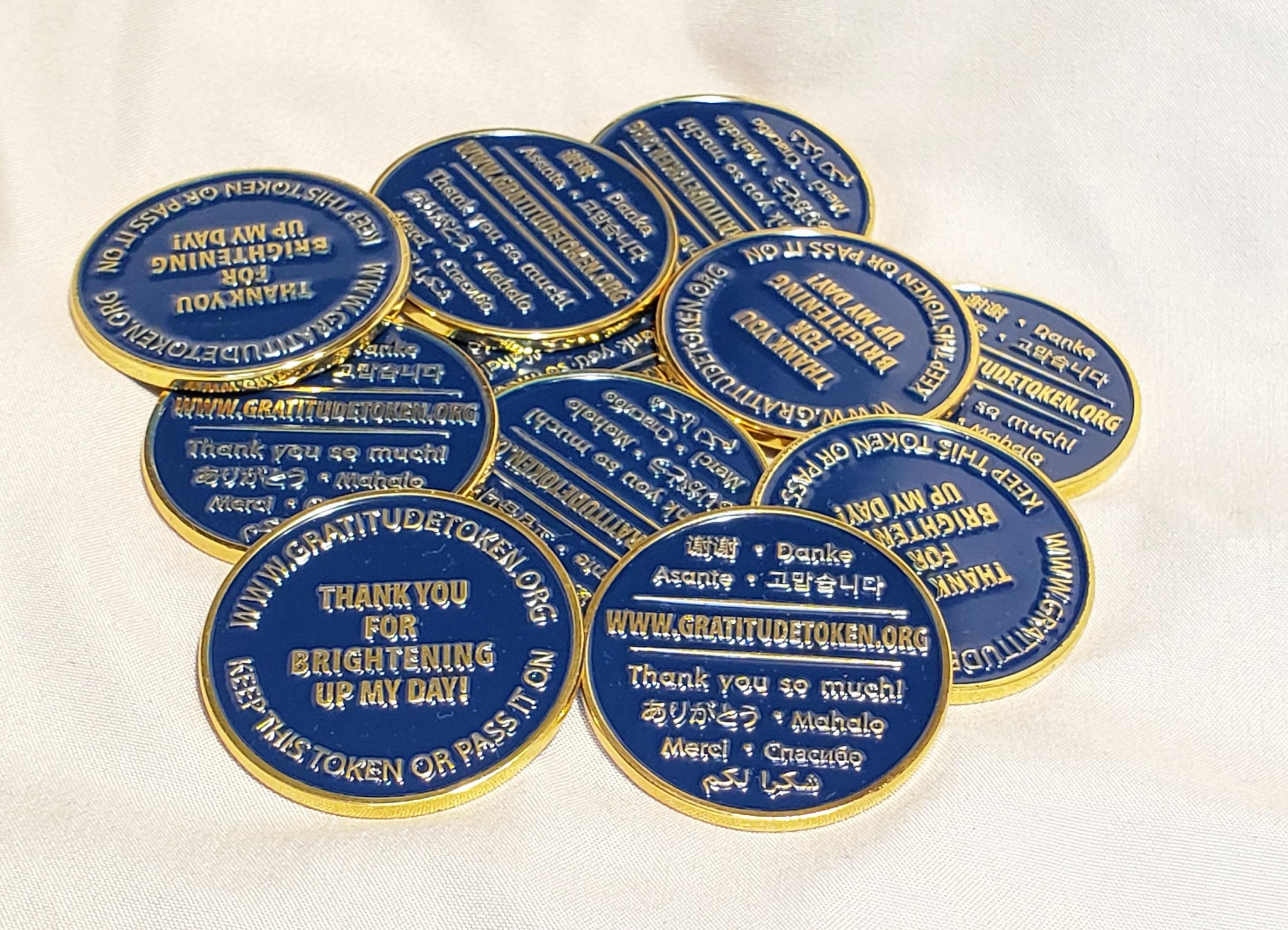 11 Metal Gratitude Token Coins