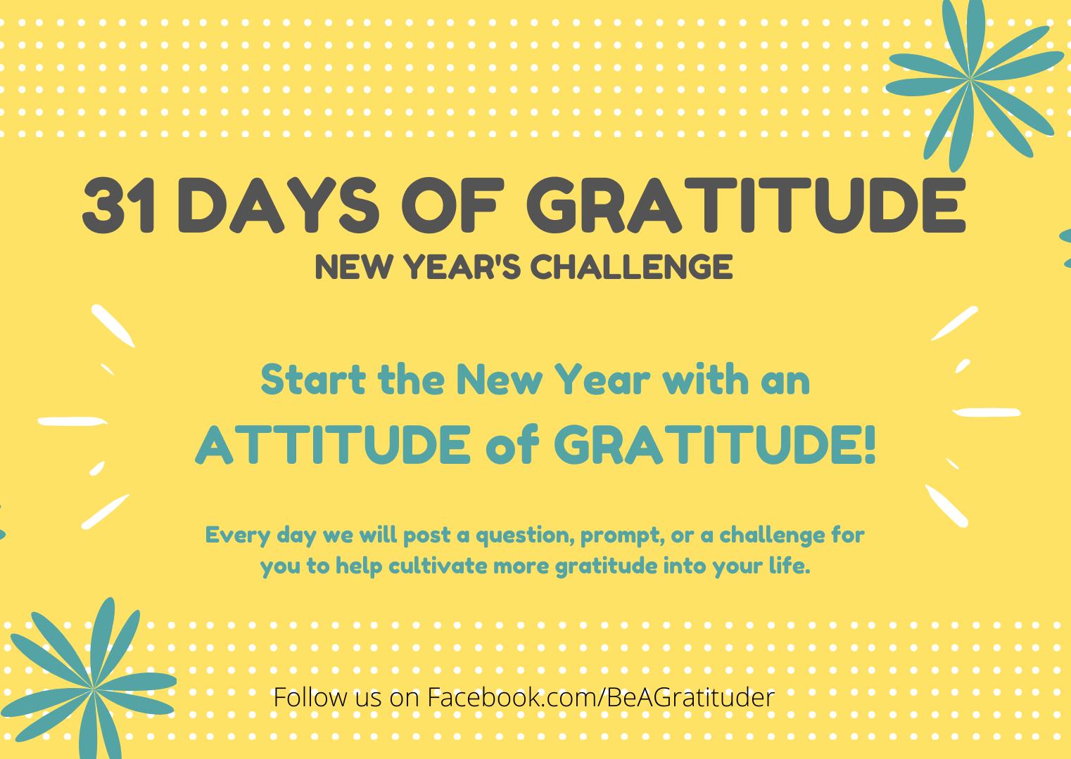 31 Days of Gratitude Challenge